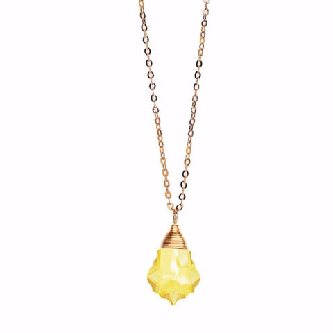 Citrine Baroque Necklace