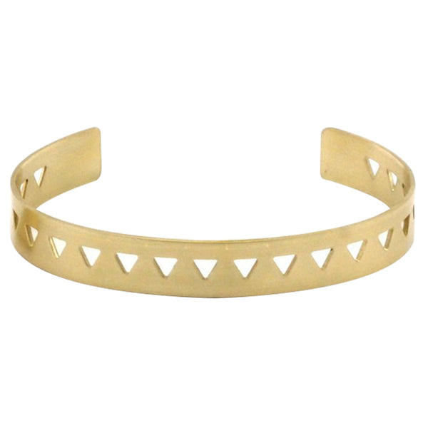 Raw Brass Triangle Bangle