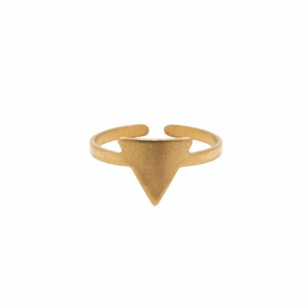Raw brass mini triangle ring