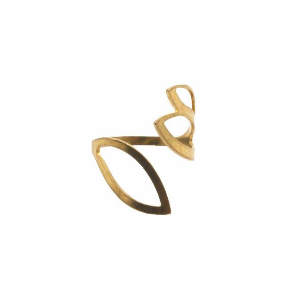 Raw brass wrap ring