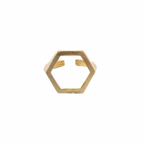 Cutout Hexagon Ring