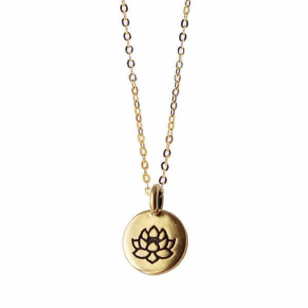 Engraved Lotus Necklace WHOLESALE