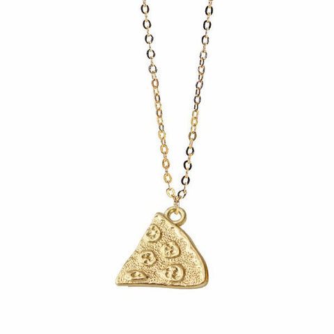 pizza pie, pizza chain necklace, pendant, pendant designs, pizza squad necklace, pizza gold, golden pizza, pizza golden, simple gold necklace, pizza slice necklace, gold pendant designs, gold pendant for girl, gold pendant designs for female, gold plated brass