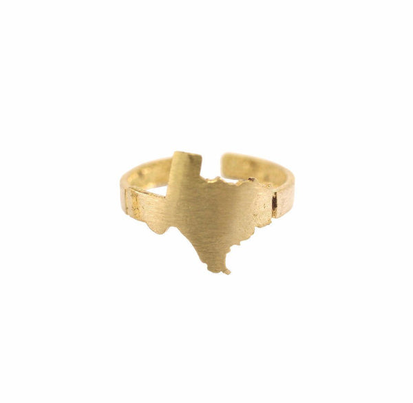 Raw Brass Texas State Ring