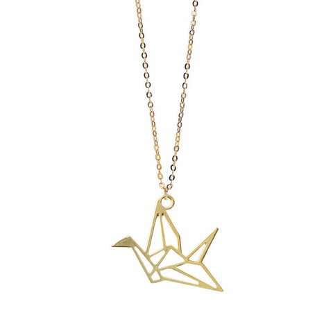 origami pendant, crane paper, swan origami, origami dove, raw brass, gold plated brass, pendant jewelry, gold pendant designs, simple gold necklace, charm jewelry, diy necklace, gold accessories, gold inlay, girl craft