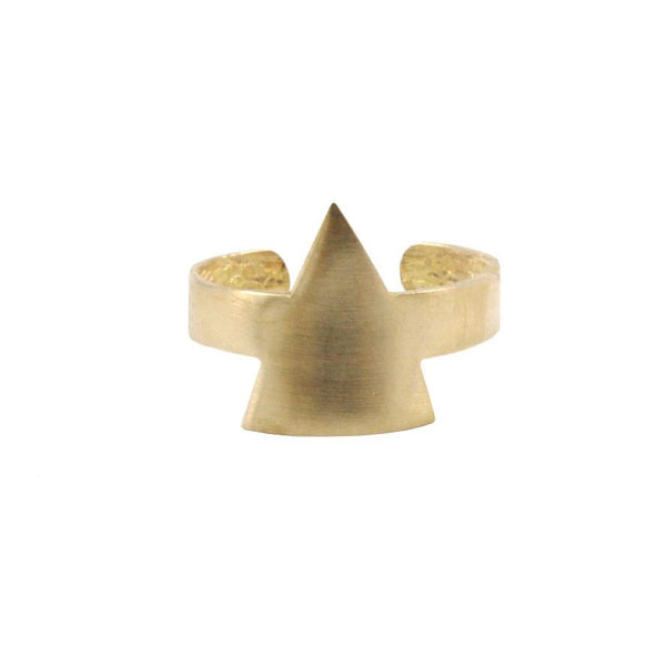 Raw Brass Blank Triangle Ring