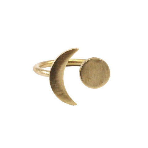 Raw brass Orbit Ring