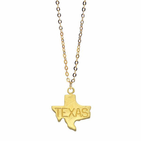 state necklace, texas necklace, golden texas pendant, raw brass, gold plated brass, pendant jewelry, simple gold necklace, sterling silver, gold filled, simple gold necklace, gold pendant designs for female, fancy gold pendant, crafting