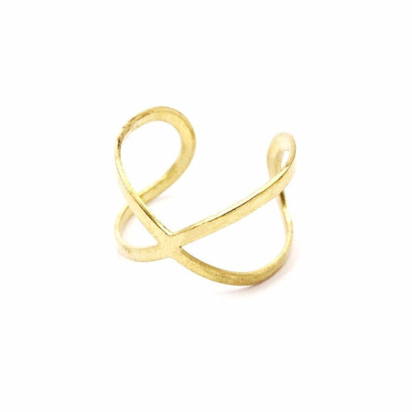 Raw brass infinity ring