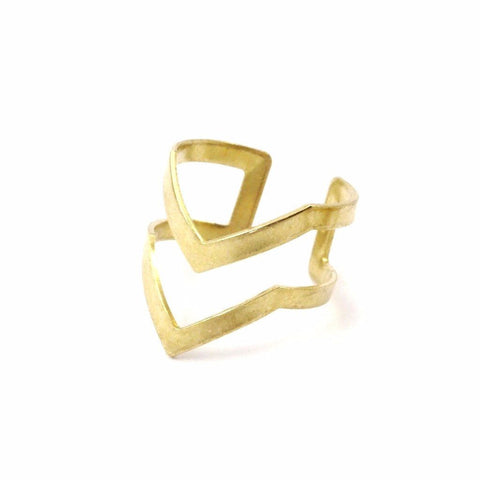 Double Chevron Ring WHOLESALE