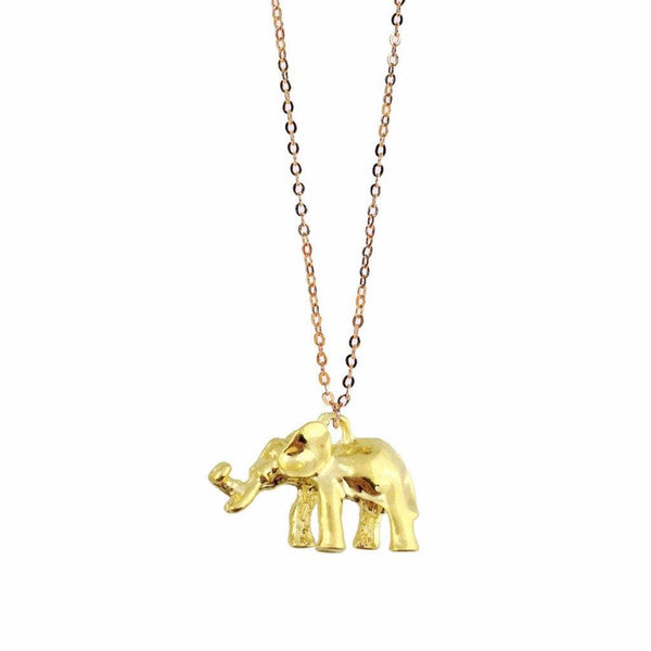 elephant necklace, lucky charms, solid gold, elephant pendant, dainty gold elephant, gold filled, gold accessories, charm jewelry, fancy gold, diy necklace, art and craft
