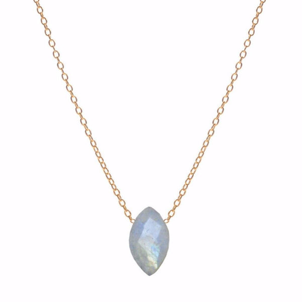 Marquise Moonstone Necklace WHOLESALE