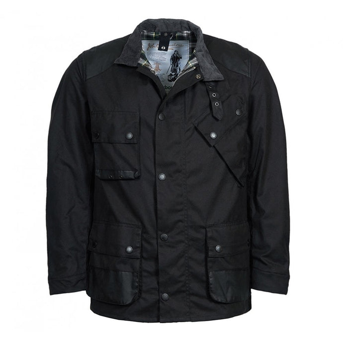 Barbour Mens Icons International Wax - Black