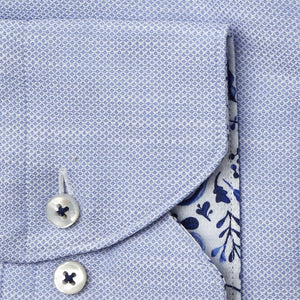Stenstroms Blue Fitted Body Shirt W Contrast