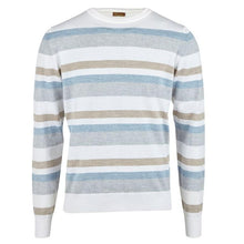 Load image into Gallery viewer, Stenstroms Striped Merino Crew Neck