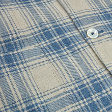 Load image into Gallery viewer, Stenstroms Blue Checked Cotton Linen Blazer