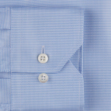 Load image into Gallery viewer, Stenstroms Blue Micro Houndstooth Fitted Body Dress Shirt