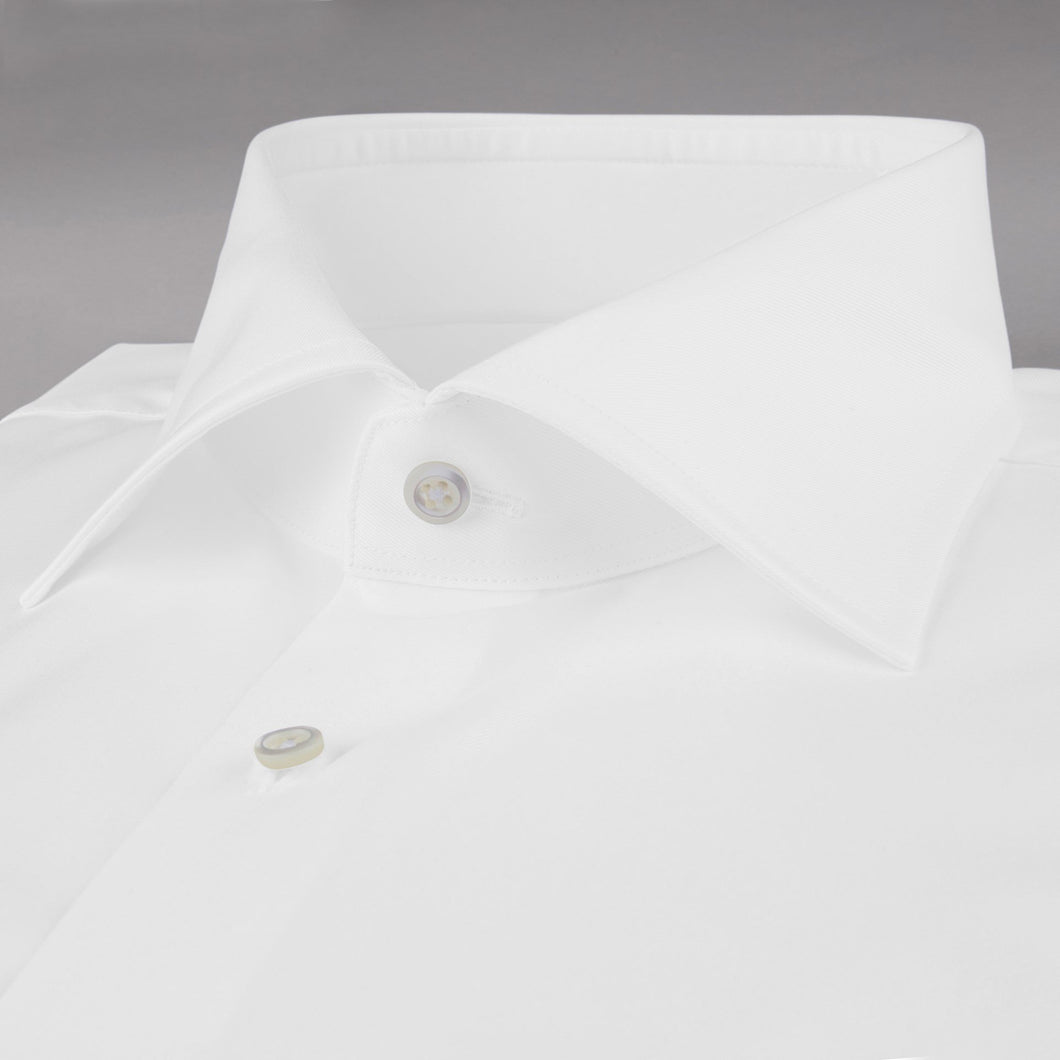 Stenstroms Solid White FRENCH CUFF SLIMLINE Dress Shirt
