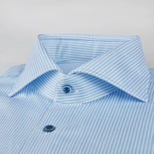 Load image into Gallery viewer, Stenstroms Blue Striped Fitted Body Shirt
