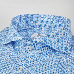 Stenstroms Blue Patterned Fitted Body Shirt
