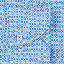 Load image into Gallery viewer, Stenstroms Blue Patterned Fitted Body Shirt
