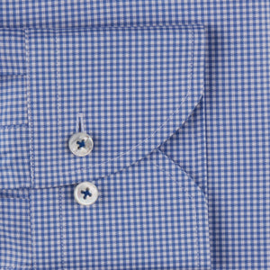 Stenstroms Blue Checked Fitted Body Dress Shirt