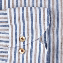 Load image into Gallery viewer, Stenstroms Striped Fitted Body Linen Shirt