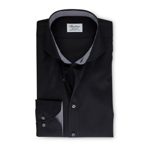 Stenstroms Black Fitted Body Shirt With Details