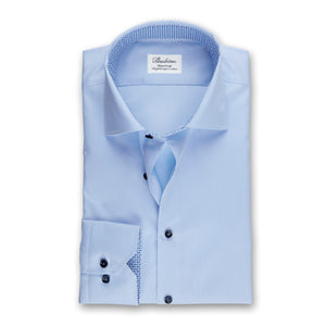 Stenstroms Light Blue Fitted Body Shirt W Contrast