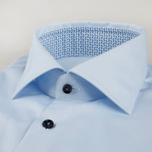 Load image into Gallery viewer, Stenstroms Light Blue Fitted Body Shirt W Contrast