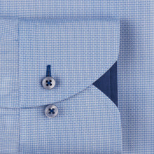 Load image into Gallery viewer, Stenstroms Blue Textured CLASSIC FIT Shirt With Details