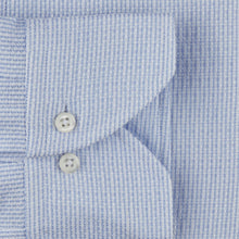 Load image into Gallery viewer, Stenstroms Light Blue Jacquard SLIMLINE Shirt