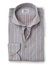 Load image into Gallery viewer, Stenstroms Tan Fitted Body Sport Shirt