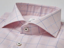 Load image into Gallery viewer, Stenstroms Pink Fitted Body Dress Shirt