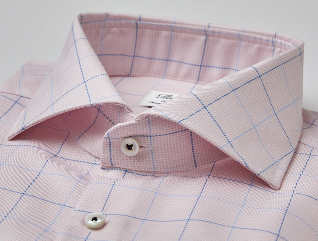 Stenstroms Pink Fitted Body Dress Shirt