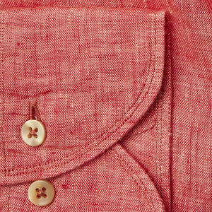 Stenstroms Watermelon LINEN Fitted Body Shirt