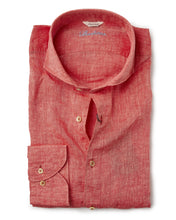 Load image into Gallery viewer, Stenstroms Watermelon LINEN Fitted Body Shirt