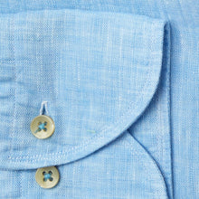 Load image into Gallery viewer, Stenstroms Sky Blue Linen Sport Shirt