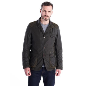 Barbour Icons Beacon Sports Waxed Cotton Jacket - OLIVE
