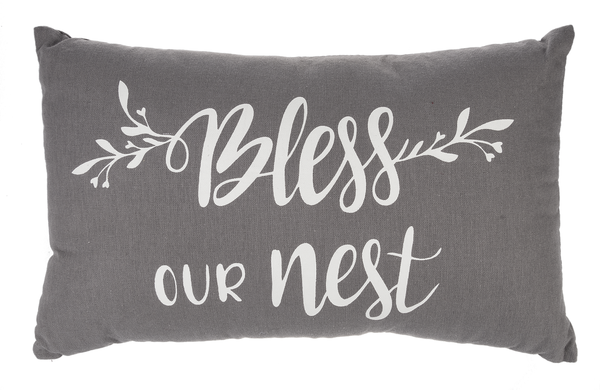 """Bless Our Nest"" Pillow"