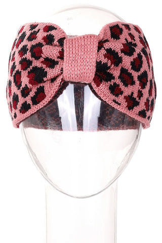 Leopard Knitted Headwrap