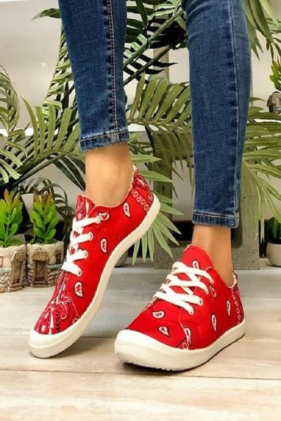 """Obsessed"" Bandana Shoes"