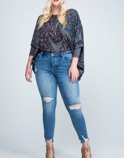 """The Rise"" Curvy Size Jeans"