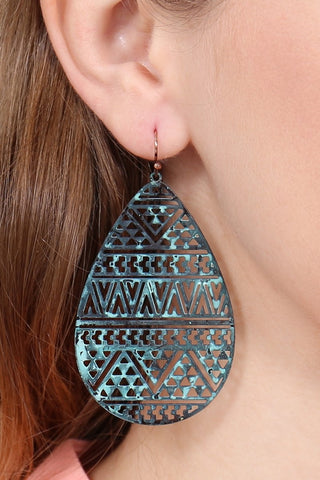 FILIGREE FISH HOOK EARRINGS