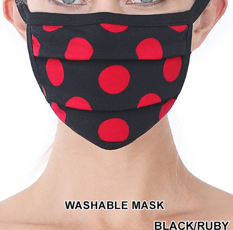POLKA DOT FACE MASK