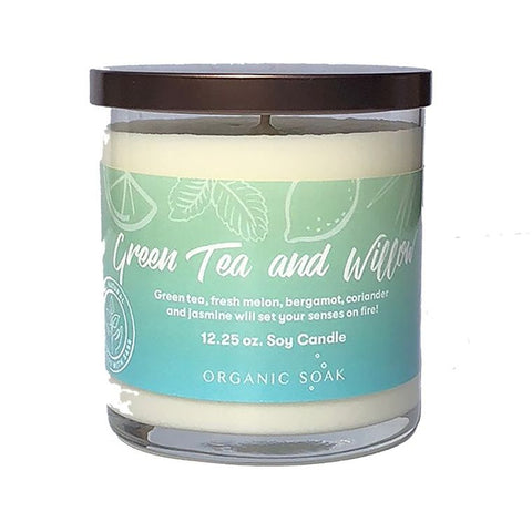 Green Tea and Willow Scented Soy Candle