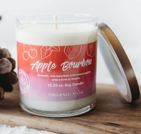 Apple Bourbon Scented Soy Candle