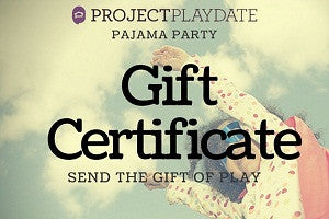 Pajama Party Gift Certificate