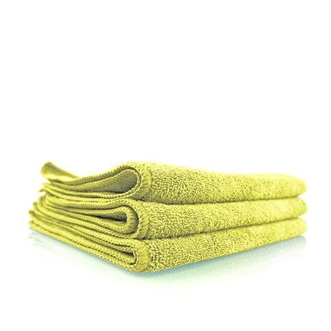 "Workhorse Yellow Professional Grade Microfiber Towel (16"" x 16"") - Interior / Set of 3"