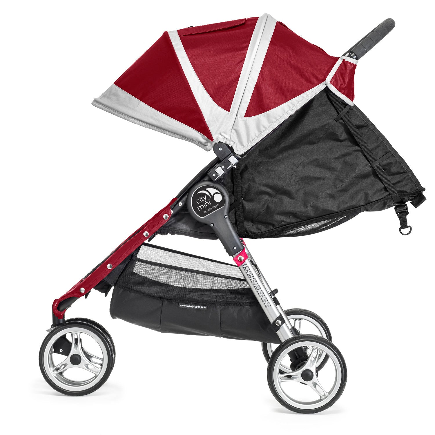 Baby Jogger City Mini Single 3 Wheel (Crimson) - Baby Gosling  - 1